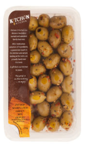 Pitted Green marinated Mixed olives